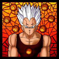Stained glass - BV by BabyVegeta