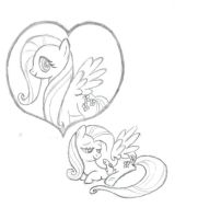 Fluttershy Sketches #1 by DiscordDiscourse16