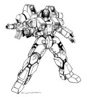 ROBOTECH Walker Cyclone Battloid by ChuckWalton