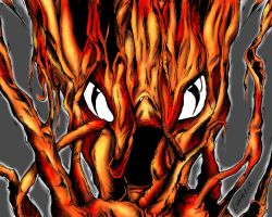 Fire Tree Face by Keith0186