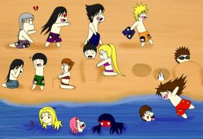 Naruto: At The Beach by xmizuwaterx