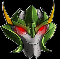 Skyquake Helm Smile by Laserbot