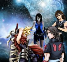 Final fantasy 7 and 8 meet by edwards1206