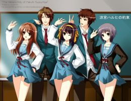 Haruhi 'Let's Pose' by myhilary