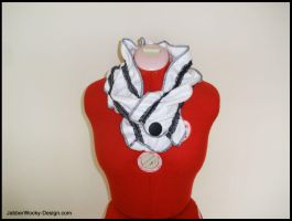 Buttoned Up Lolita Scarf by morbid-stitches