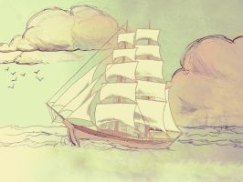 The Story of a Seaman: Sailing in Brigantine by StargardensBreath
