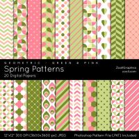 Spring Patterns by MysticEmma
