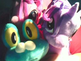 My Pinkie, Twilight, and Froakie Plushies by Internet-Hog