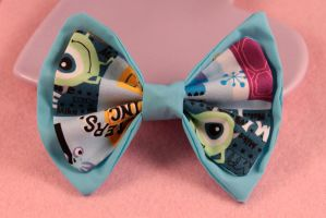 Double Hair Bow - Monsters Inc by PeppermintPuff