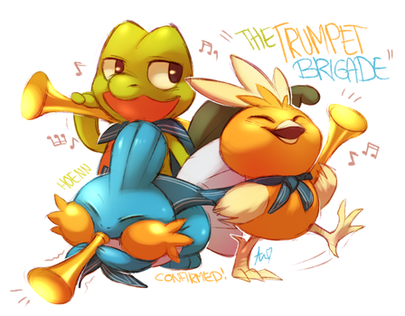 The trumpet brigade by Aishishi