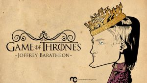 Wallpaper caricature Joffrey Baratheon by VampirGoth