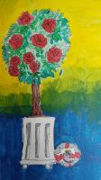 rose tree observational painting by the-anime-snowflake