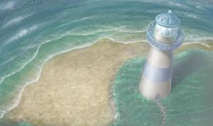Lighthouse aerial scene by ShaneMadeArt
