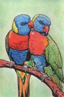 Rainbow Lorikeet by Cooki3Art