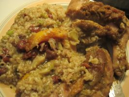 Butternut-Honey Chicken Leg Quarters and Rice 4 by Windthin