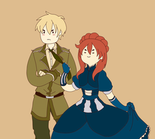 Hetalia: England and fem!Scotland | My gentleman by Lazorite