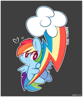 Cutie Mark - Rainbow Dash by MACKINN7
