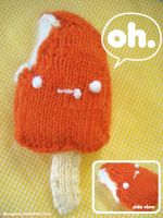 orange pop amigurumi first try by ilovegravy