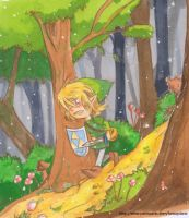 -Legend of Zelda-lost woods- by kichisu