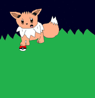 ~.:My Drawing Of Eevee From Pokemon.:~ by Celeste-the-Cat