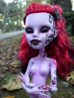 Monster High OOAK - The Shadow by aurieth-mynonys