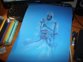 Altair  - Assassins Creed WIP by Gle4se