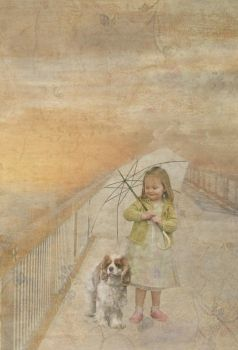 With My Doggy and Umbrella by Jejune-mH