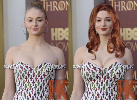 Sophie Turner - Before and After by hskfmn