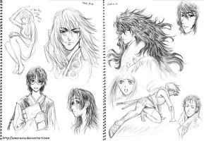 Shin Angyo Onshi sketches 1 by Amarevia