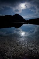 Lac Lerie under the moon by vincentfavre