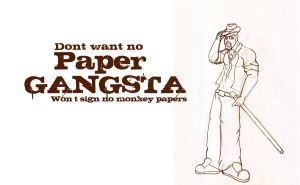 Paper Gangsta LINE by Adder24