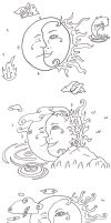Sun Moon Tattoo Ideas by Samishii-Kami