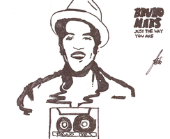 Bruno Mars: NEW SINGLE drawing by Thbio