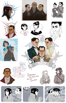 DISHONORED DOODLES by AgentDax