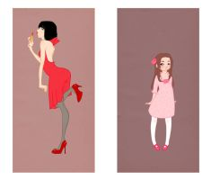 Girls like pink-Women love red by Lena-evans