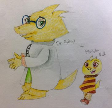 Dr. Alphys and the Monster Kid by yuzuyukatrap
