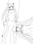 Lines: Black Lady and Mistress 9 by anotherwannabeartist