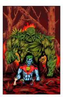 Swamp Thing vs Captain Planet Cover by Kristov-C077X