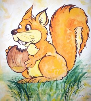 the happy squirrel by Katja-1A