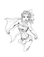 Supergirl Flying 2 by ESO2001