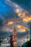 Sky and church full color by Ekaiaistari