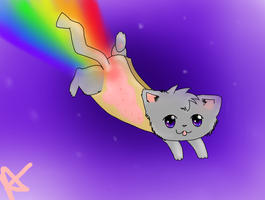 nyan cat by sketchybunny