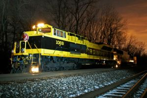 red skies at night railfans delight by JDAWG9806