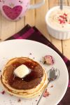 Rose syrup pancakes by kupenska