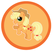 MLP Button: Applejack by Psyoren