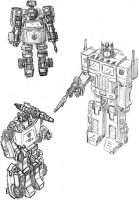 Autobot Trio by MisterFear