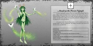 Amadrya the Forest Nymph by TakemaKei