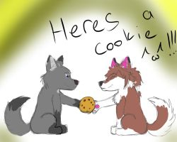 Heres a cookie ^^ by Wolfchill13