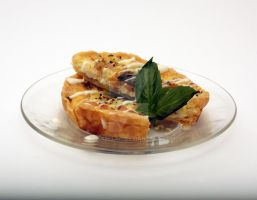 quiche - chicken and apricot with fresh basil by kincaellan