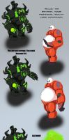 Iron Reaver meets Baymax by biscomic